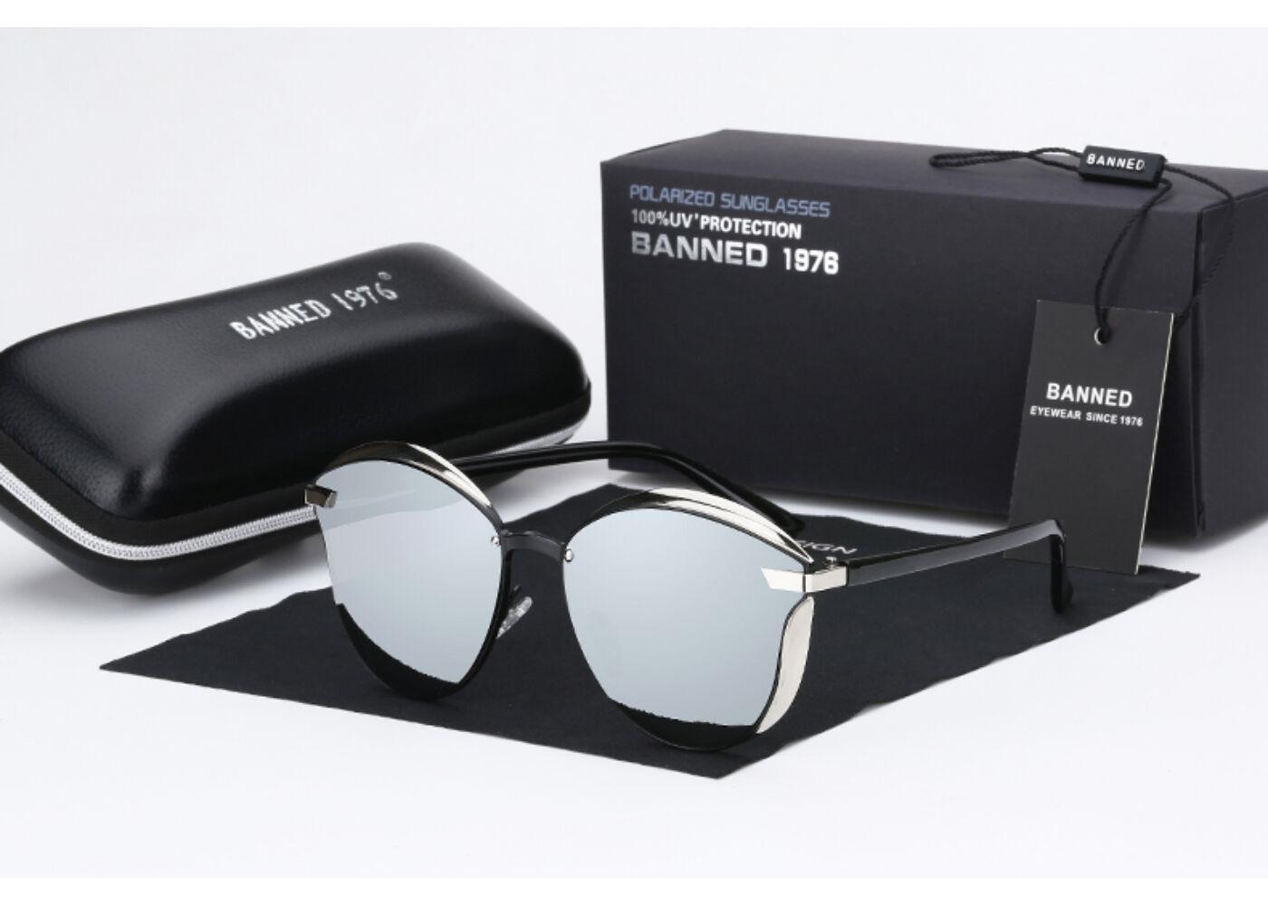 BANNED 1976 ultravagány tükörlencsés női luxus napszemüveg c56042f240