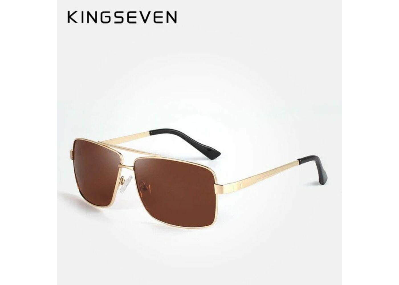 KINGSEVEN polarizált barna lencsés férfi napszemüveg arany színű kerettel  Katt rá a felnagyításhoz d64ead9cd4