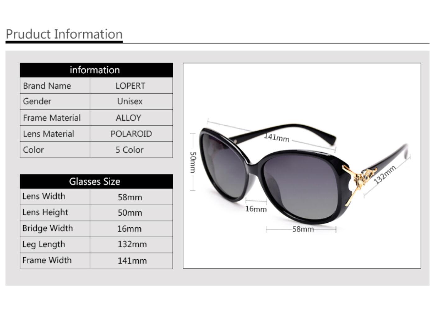 LOPERT fekete keretes női napszemüveg 707a39af1e