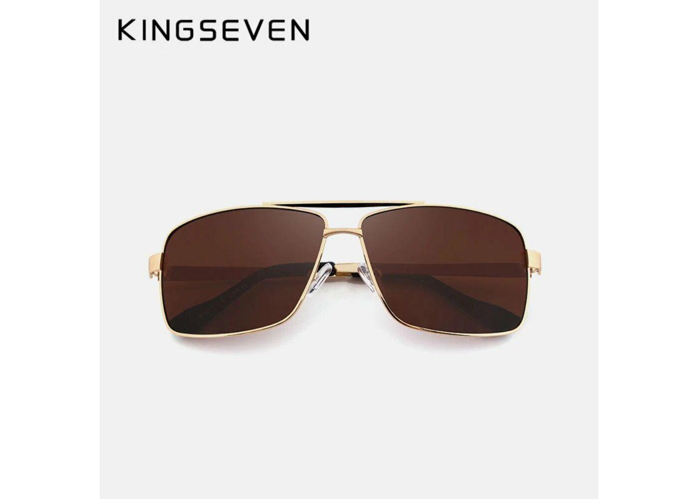 KINGSEVEN polarizált barna lencsés férfi napszemüveg arany színű kerettel b116fe2b1a