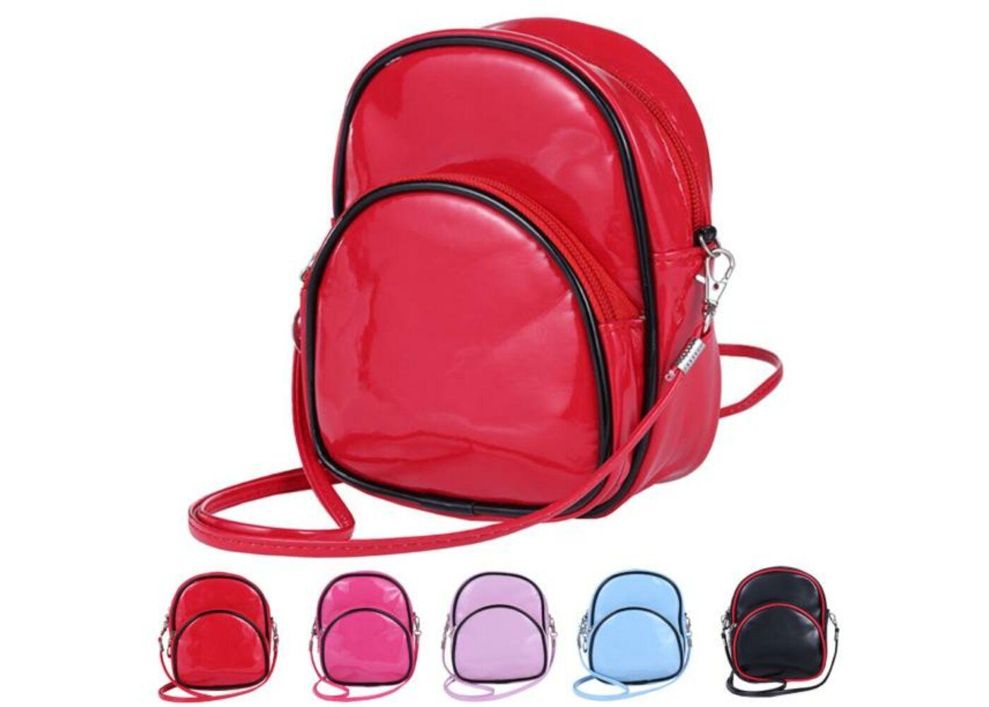 Lakkos hátitáska kinézetű válltáska piros színben - Női táskák ... e02a93cd45