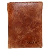 Accent férfi pénztárca valódi bőr (9x11,5 cm)