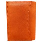 Valódi Bőr Uniszex Mini Pénztárca (8x10), narancs