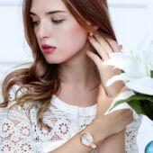Lvpai rose gold női karóra, ezüst számlappal
