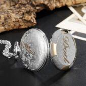 'The greatest Dad' (a legnagyszerűbb apa) feliratú ezüst színű nemesacél zsebóra lánccal