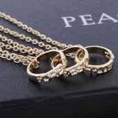 Legjobb barátok - hármas nyaklánc karika medállal - arany színű