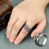 Karom nemesacél gyűrű, állítható méretű