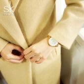 SHENGKE luxus nemesacél szíjas női karóra - csepp- és ütésálló