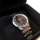 Elegáns ARABIANS üzleti férfi óra dobozban, divatos fémszíjjal (35 MM)