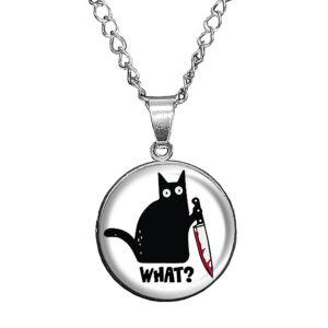 What-Cat-üveglencsés-medál-lánccal-karkötővel-vagy-fülbevalóval