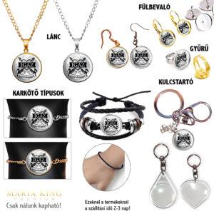 Igaz szerelemmel silver medál lánccal, karkötő, fülbevaló, kulcstartó
