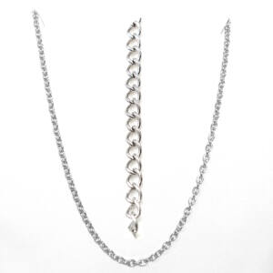 Rozsdamentes acél lánc (4 mm vastag), több méretben, több színben