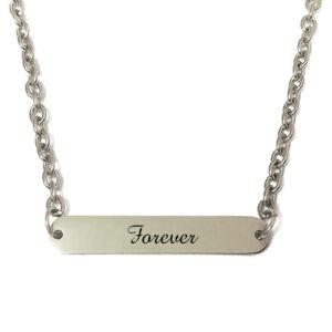 Forever-feliratú-nyaklánc-tüköracél-lapocskával