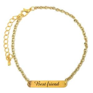 Best-Friend-Legjobb-barát-feliratú-karkötő-tüköracél-fémlappal