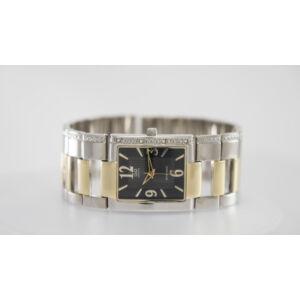 Q&Q luxus női karóra, ezüst-arany-fekete