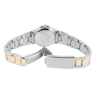 Női Karkötőóra, elegáns ezüst-arany fémszíjjal, Dawn márka