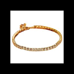 StoneFans aranyozott teniszkarkötő cirkóniummal, arany