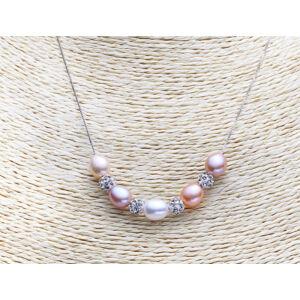 valódi ezüst nyaklánc édesvízi gyöngy