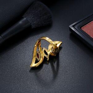 Antik arany hatású hosszúkás, rezinát köves gyűrű, több méretben