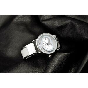 XINHUA ütés- és cseppálló nemesacél karkötő óra szív motívummal, fehér