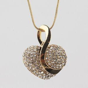 szív alakú medál nyaklánccal, fülbevalóval