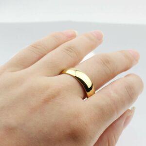 VNOX nemesacél karikagyűrű, több méretben - kék