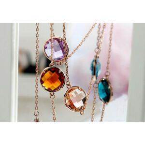 luxus aranyozott statement nyaklánc kristályokkal,