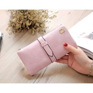 Műbőr divat pénztárca, pink