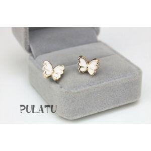 Pillangó formájú zománc és réz beszúrós fülbevaló