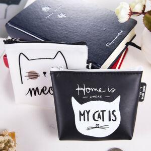 Fehér cicás 'Meow' pénztárca