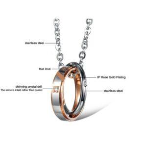 Igaz szerelem - True Love dupla medál és lánc, prémium, aranyozott, ajándékdobozzal