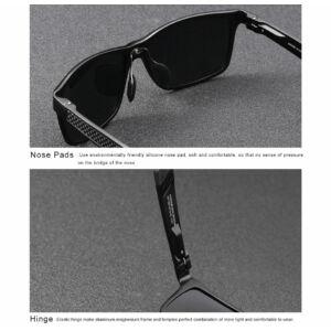 KINGSEVEN extravagáns férfi napszemüveg fekete kerettel
