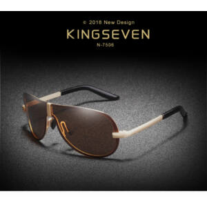 KINGSEVEN polarizált keret nélküli napszemüveg, barna lencsével