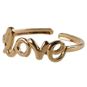 LOVE feliratos lábujjgyűrű, ezüst és arany színben