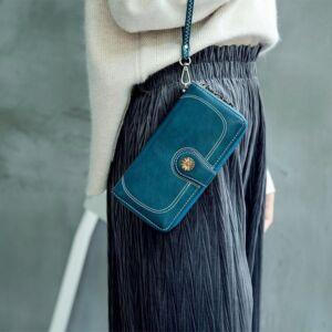 Gyönyörű dizájnbőr női pénztárca, kékes zöld