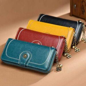 Gyönyörű dizájnbőr női pénztárca, pirosas bordó
