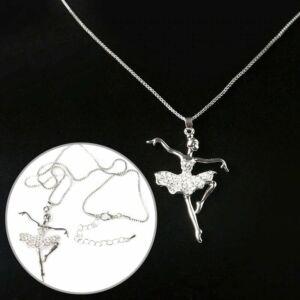 kristályszoknyás balerina medál nyaklánccal