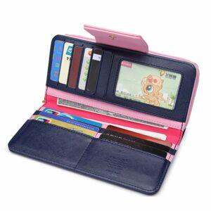 Maria-King-sötétkék-rózsaszín-galamb-motívumos-női-pénztárca