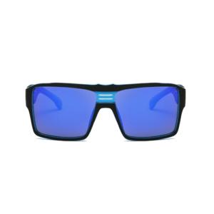 polarizált retro szögletes keretes férfi napszemüveg, k