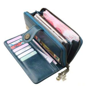 Gyönyörű dizájnbőr női pénztárca, fekete