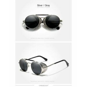 extravagáns polarizált napszemüveg oldalt napellenzővel, ezüst