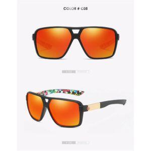 polarizált retro keretes férfi napszemüveg