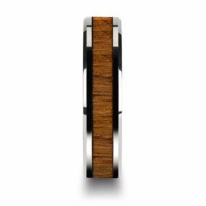316L nemesacél fa berakású karikagyűrű, több méretben