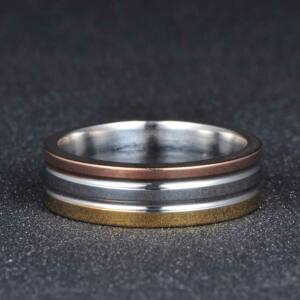 Három színű nemesacél karikagyűrű, több méretben