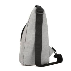 Kicsi, kényelmes uniszex vászon hátizsák (33x7,5x17 cm), szürke
