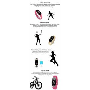 Sport S3 multifunkciós női aktivitásmérő okosóra, bézs-arany