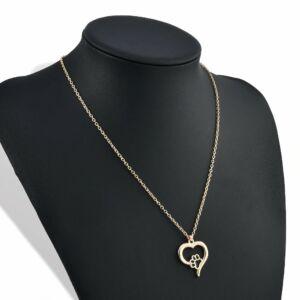 Tappancs és szív medál arany színű lánccal