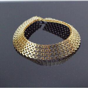 Arany színű, fémhálós nyaklánc