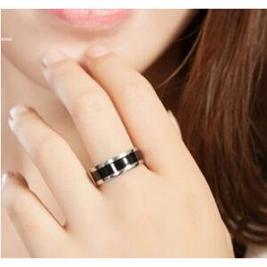 Ezüst-fekete nemesacél karikagyűrű, több méretben