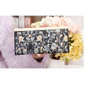 virág motívumokkal díszített gyönyörű női pénztárca